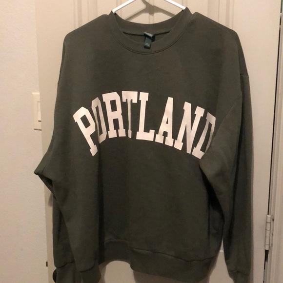 Target Brand oversized graphic Portland sweatshirt